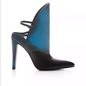 ALEXANDER WANG heat sensitive blue mules heels